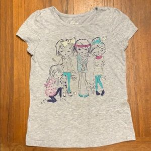 Epic Threads Girl's Shirt w/ Best friends and Cats